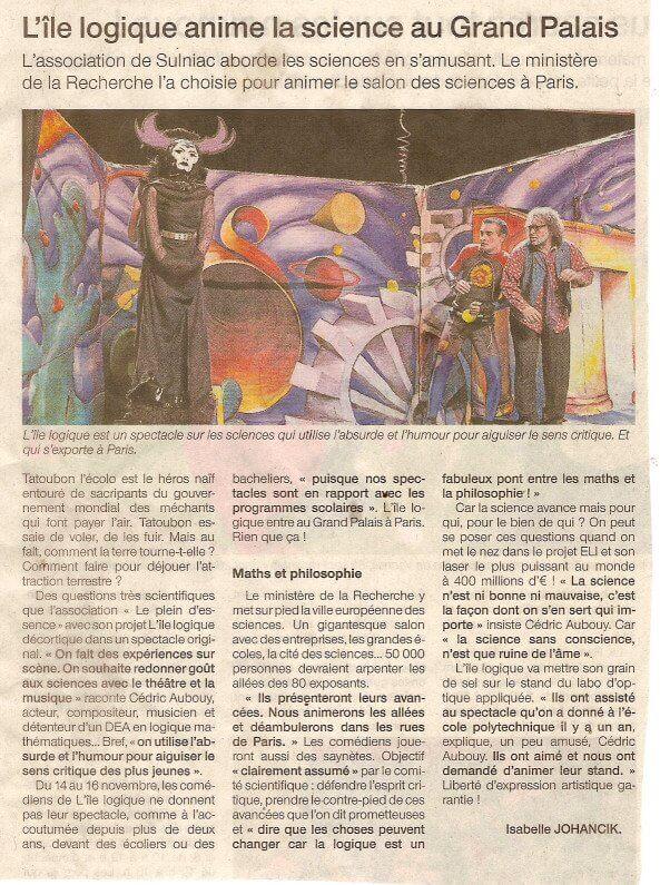 presse-article_ouest_france_VES_nov08